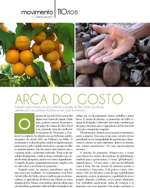 Arca do Gosto - Revista Prazeres da Mesa